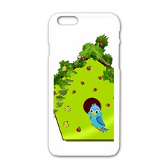 Bluebird Bird Birdhouse Avian Apple Iphone 6/6s White Enamel Case by Nexatart