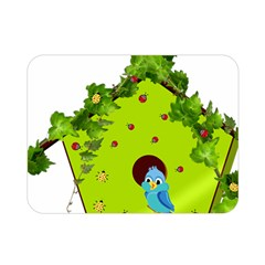 Bluebird Bird Birdhouse Avian Double Sided Flano Blanket (mini)