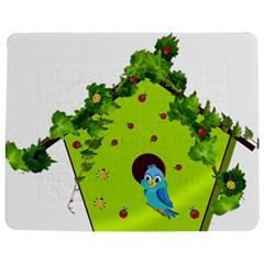 Bluebird Bird Birdhouse Avian Jigsaw Puzzle Photo Stand (rectangular)