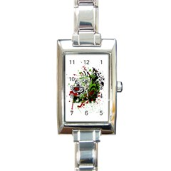 Do It Sport Crossfit Fitness Rectangle Italian Charm Watch by Nexatart