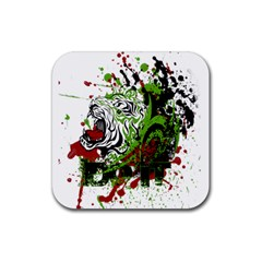 Do It Sport Crossfit Fitness Rubber Coaster (square)  by Nexatart