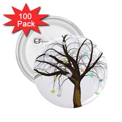 Tree Fantasy Magic Hearts Flowers 2 25  Buttons (100 Pack)  by Nexatart