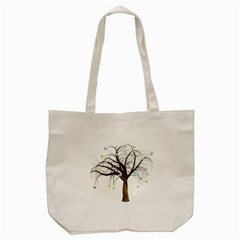 Tree Fantasy Magic Hearts Flowers Tote Bag (cream)