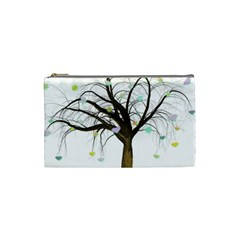 Tree Fantasy Magic Hearts Flowers Cosmetic Bag (small)