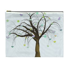 Tree Fantasy Magic Hearts Flowers Cosmetic Bag (xl)