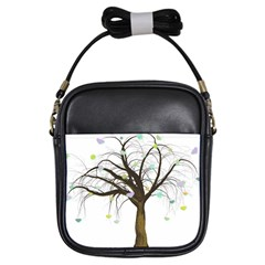 Tree Fantasy Magic Hearts Flowers Girls Sling Bags