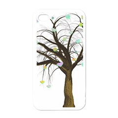 Tree Fantasy Magic Hearts Flowers Apple Iphone 4 Case (white) by Nexatart