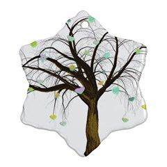 Tree Fantasy Magic Hearts Flowers Ornament (snowflake)