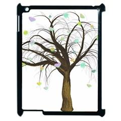 Tree Fantasy Magic Hearts Flowers Apple Ipad 2 Case (black)