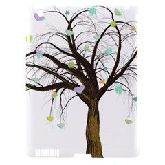 Tree Fantasy Magic Hearts Flowers Apple Ipad 3/4 Hardshell Case (compatible With Smart Cover)