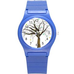 Tree Fantasy Magic Hearts Flowers Round Plastic Sport Watch (s) by Nexatart