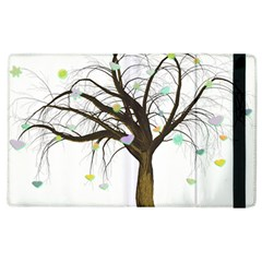 Tree Fantasy Magic Hearts Flowers Apple Ipad 2 Flip Case by Nexatart
