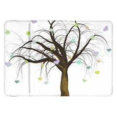Tree Fantasy Magic Hearts Flowers Samsung Galaxy Tab 8 9  P7300 Flip Case