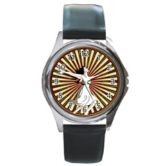 Woman Power Glory Affirmation Round Metal Watch