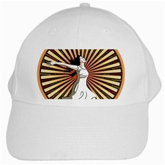 Woman Power Glory Affirmation White Cap by Nexatart
