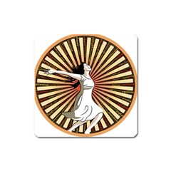Woman Power Glory Affirmation Square Magnet