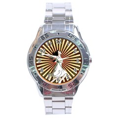 Woman Power Glory Affirmation Stainless Steel Analogue Watch