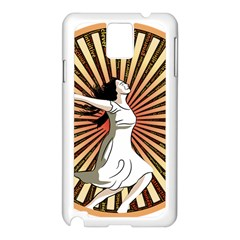 Woman Power Glory Affirmation Samsung Galaxy Note 3 N9005 Case (white)