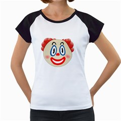 Clown Funny Make Up Whatsapp Women s Cap Sleeve T