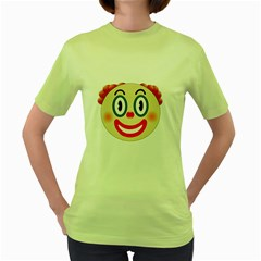 Clown Funny Make Up Whatsapp Women s Green T Shirt