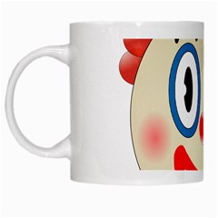 Clown Funny Make Up Whatsapp White Mugs by Nexatart
