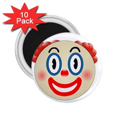 Clown Funny Make Up Whatsapp 2 25  Magnets (10 Pack)
