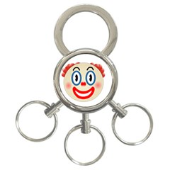 Clown Funny Make Up Whatsapp 3 Ring Key Chains by Nexatart