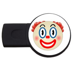 Clown Funny Make Up Whatsapp Usb Flash Drive Round (2 Gb) by Nexatart