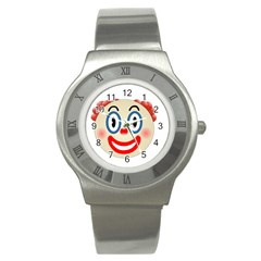 Clown Funny Make Up Whatsapp Stainless Steel Watch