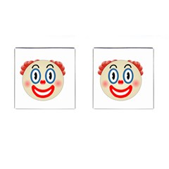 Clown Funny Make Up Whatsapp Cufflinks (square) by Nexatart