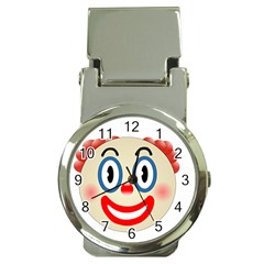 Clown Funny Make Up Whatsapp Money Clip Watches by Nexatart