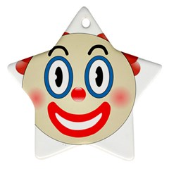 Clown Funny Make Up Whatsapp Star Ornament (two Sides) by Nexatart