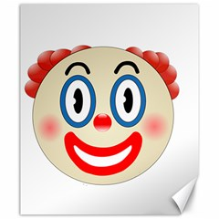 Clown Funny Make Up Whatsapp Canvas 20  X 24   by Nexatart