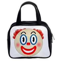 Clown Funny Make Up Whatsapp Classic Handbags (2 Sides) by Nexatart
