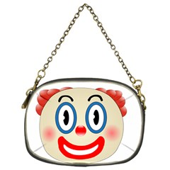 Clown Funny Make Up Whatsapp Chain Purses (one Side)  by Nexatart
