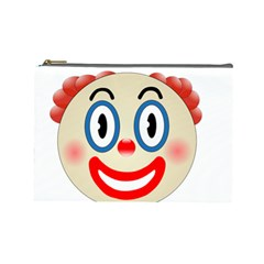 Clown Funny Make Up Whatsapp Cosmetic Bag (large)  by Nexatart