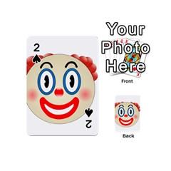 Clown Funny Make Up Whatsapp Playing Cards 54 (mini)  by Nexatart