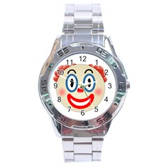 Clown Funny Make Up Whatsapp Stainless Steel Analogue Watch by Nexatart