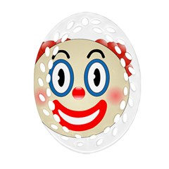 Clown Funny Make Up Whatsapp Oval Filigree Ornament (two Sides) by Nexatart