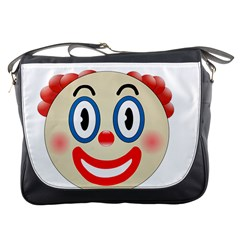 Clown Funny Make Up Whatsapp Messenger Bags by Nexatart
