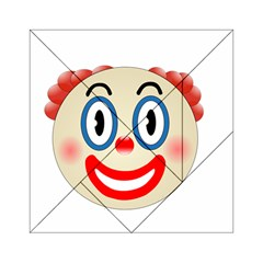 Clown Funny Make Up Whatsapp Acrylic Tangram Puzzle (6  X 6 ) by Nexatart