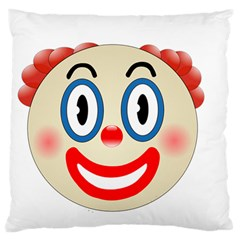 Clown Funny Make Up Whatsapp Large Cushion Case (one Side) by Nexatart