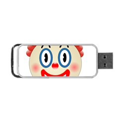 Clown Funny Make Up Whatsapp Portable Usb Flash (two Sides) by Nexatart