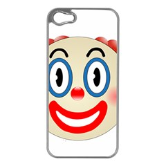 Clown Funny Make Up Whatsapp Apple Iphone 5 Case (silver)