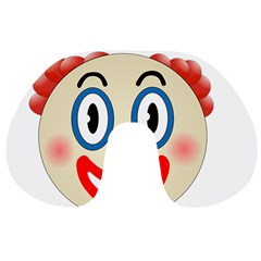 Clown Funny Make Up Whatsapp Travel Neck Pillows