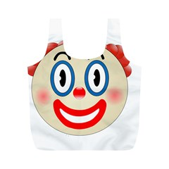 Clown Funny Make Up Whatsapp Full Print Recycle Bags (m)
