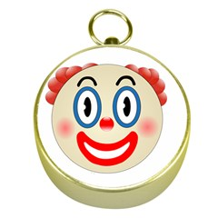 Clown Funny Make Up Whatsapp Gold Compasses by Nexatart