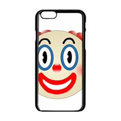 Clown Funny Make Up Whatsapp Apple Iphone 6/6s Black Enamel Case by Nexatart