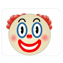 Clown Funny Make Up Whatsapp Double Sided Flano Blanket (medium)  by Nexatart