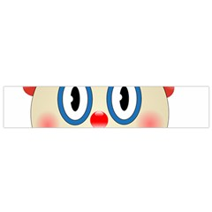 Clown Funny Make Up Whatsapp Flano Scarf (small) by Nexatart